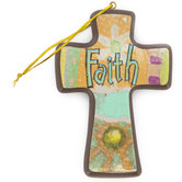Colorful Faith Wall Cross